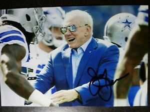 JERRY JONES Authentic Hand Signed Autograph 4X6 Photo - HOF DALLAS COWBOYS OWNER