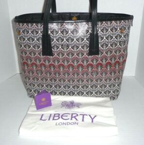 LIBERTY OF LONDON Iphis Sunset Little Marlborough Large Tote Bag In Coral - NWT