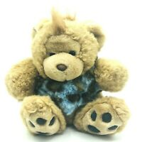 Sales Agent PAF Forebears Caveman Plush Vintage Blue Bear Plush Made In Korea