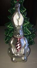 Christmas Ornament Poland Rabbit With Tie Mercury Glass
