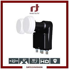 LNB Monoblock Quad 6° Inverto Black Pro 0.2 dB Gain 65 dB Full HD 3D Ultra HD