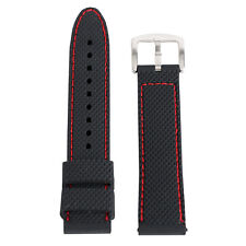 18mm 20mm 22mm 24mm Silicone Watch Band Waterproof Rubber Mens Sport Wrist Strap