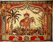 """BEAUTIFUL QUALITY BELGIAN WOVEN TAPESTRY WALL HANGING """"THE ELEPHANT"""", 54"""" X 69"""""""