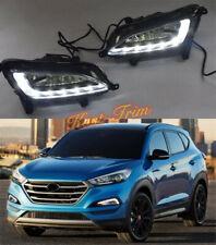 For HYUNDAI TUCSON 2016-2018 LED Front Bumper Fog Lights lamp Kit  Left + right