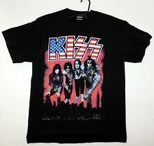 KISS Band NYC American Flag T-Shirt Winterland UNWORN L 2006 Gene Ace Peter Paul