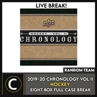 2019-20 UPPER DECK CHRONOLOGY HOCKEY 8 BOX FULL CASE BREAK #H979 - RANDOM TEAMS