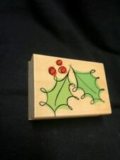 E3657 Fancy Holly Hero Arts wooden rubber stamp