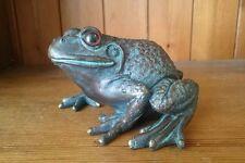 Frog Garden Pond Decoration Vintage Bronze Effect Ornament NEW