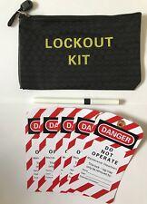 Lockout/ Lock Off Danger Tags, Lockout Kit Bag & Dry Wipe Pen.