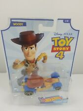Hot Wheels Character Cars Toy Story 4 Woody - Reindeer Toys, New, Free Ship