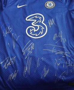 Signed Chelsea Fc Home Shirt 2020/21  Squad with COA
