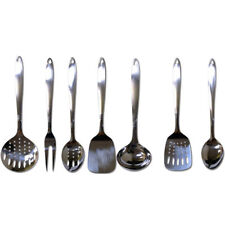 7 Stainless Steel Serving Set Kitchen Cooking Utensil Tools Server Spatula Spoon