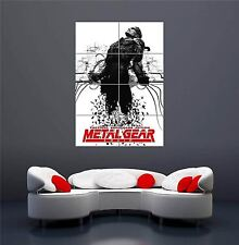 METAL GEAR SOLID SNAKE GIOCO NUOVO GIGANTE Wall Art Print PICTURE POSTER oz326