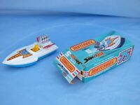Rare Vintage Boxed 1975 Matchbox Superfast No 5 Seafire Speed Boat Blue Base Toy