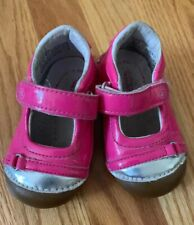 Stride Rite Infant Baby Girl Patent Leather Tennis Shoes Hot Pink Size 4.5m Euc