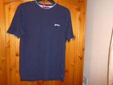 Navy blue short sleeve round neck t-shirt, SLAZENGER, size Small, UK 10-12