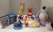 DISNEY'S WINNIE THE POOH ASSORTED LOT OF PLUSH, DVD, CAKE TOPPERS, BATH, & MORE