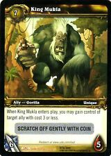 WOW King Mukla LOOT CARD UNSCRATCHED NEW - WORLD OF WARCRAFT