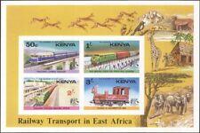 Kenya 1976 Trains/Steam/Rail/Railways/Bridges/Transport 4v imperf m/s (s1048)