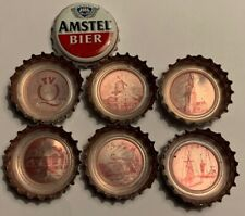 6 different AMSTEL (SET) kronkorken beer bottle caps chapas tappi