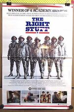 """Vintage 1984 Original THE RIGHT STUFF Home Video Release Movie Poster 20""""x30"""""""