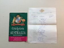 AUSTRALIAN TOUR 1961 OFFICIAL AUTOGRAPHS  ALL 17 PLAYERS  RICHIE BENAUD captain