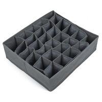 30-Grids Underwear Bra Socks Ties Divider Closet Container Storage Box Organizer