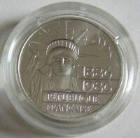 Frankreich 100 Francs 1986 100 Jahre Freiheitsstatue in New York Silber Piedfort
