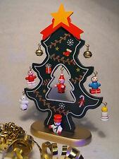 WOODEN CHRISTMAS TREE CHRISTMAS TABLE DECORATION GERMAN MARKET BAVARIAN XMAS