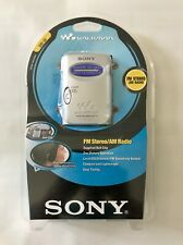 Sony Walkman SRF-59 FM Stereo AM Radio w/ Headphones & Belt Clip - New, Sealed