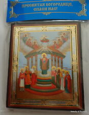 Russian wood icon Mother of God Icon of the Virgin Sofia - Wisdom of God (Kiev)
