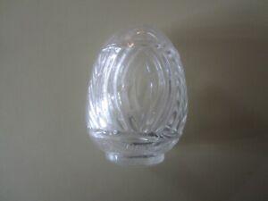 VINTAGE CLEAR GLASS BIRD FEEDER FOR BIRD CAGE