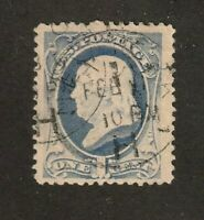 United States stamp  #145, used, 1870 - 71, SCV $20