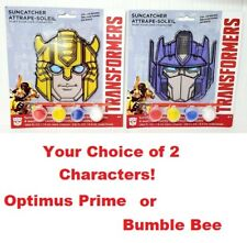 Transformers Kids Suncatcher Arts Crafts Set Fun Paint Optimus Prime Bumble Bee