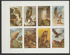 GB Locals - Staffa 3652 - 1977 BIRDS of PREY imperf sheetlet of 8  unmounted