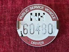 Vintage Public Service Vehicle PSV Bus Drivers Badge HH 60480 Holder & Clip