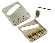 NEW Kluson Vintage BRIDGE for Fender Telecaster Tele Nickel & Brass KTBG-N