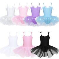 Kids Girl's Straps Camisole Dance Ballet Tutu Dress Up Leotard Dancewear Costume