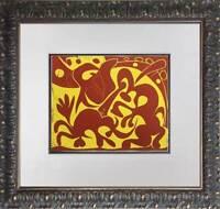 """Pablo Picasso LINOGRAVURE Ltd Edition -  """"Picador (rouge et jaune) """" w/Frame"""
