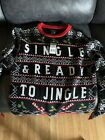 Single and ready to jingle holiday ugly christmas sweater Mens Size S