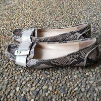 Calvin Klein Snakeskin Pattern Flats - Some Scuffing - Size 11