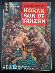 ⭐️ Edgars Rice Burroughs' KORAK SON of TARZAN #1 (1964 GOLD KEY Comics) GD Book