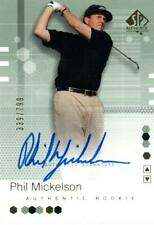 2002 UD SP Authentic GOLF PHIL MICKELSON Autograph