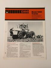 Case 4890 300 hp 4WD Tractor Brochure Introduction 4 pg. Original MINT- '79