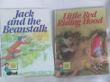 FAIRY STORIES Little Red Riding Hood Jack and The Beanstalk 2 Books Hbk
