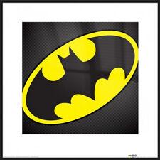 """Batman - Framed Art Print / Poster (Textured Bat Logo) (Size: 16"""" x 16"""")"""