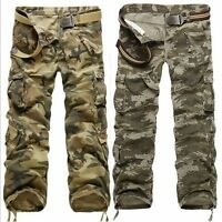 Popular Multi-pocket Men's Comfort Camouflage Cargo Pants Trousers Jeans Pants
