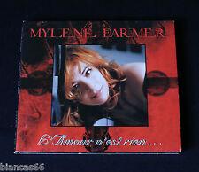*** CD SINGLE  MYLENE FARMER - L'AMOUR N'EST RIEN ***
