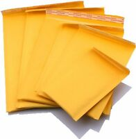 "500 #000 4x8 KRAFT BUBBLE MAILERS PADDED ENVELOPES ENVELOPE  4""x8"" SELF SEAL"