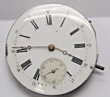 Antique No Name Pocket Watch Movement. 42 mm in size. porcelain dial